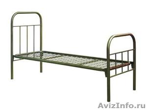 кровати металлические для больниц и турбаз, одноярусные и двухъярусные - Изображение #1, Объявление #695539
