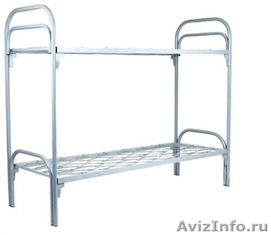 кровати металлические для больниц и турбаз, одноярусные и двухъярусные - Изображение #2, Объявление #695539