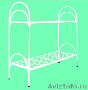 Металлические кровати для бытовок, кровати для вагончиков, кровати для лагерей. - Изображение #1, Объявление #1479382